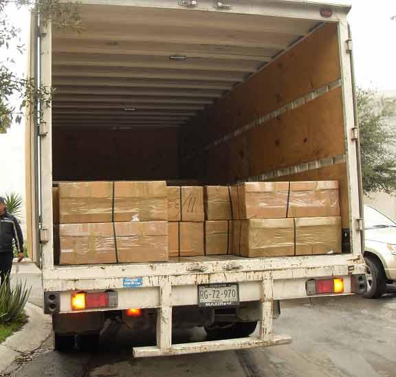 Cuadros enviados empaquetados y protegidos