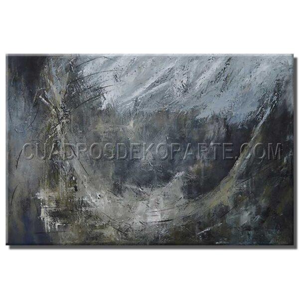 Pintura abstracta modelo concentro pintado a mano con relieve tácil