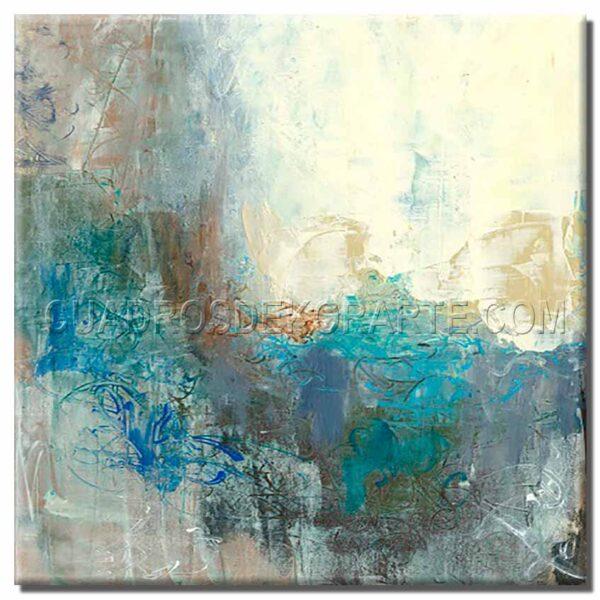 cuadros decorativos Bisul 1 colores azul, gris y blanco