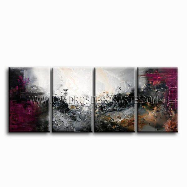 cuadros modernos motivación gris tríptico colores gris y negro