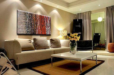 Cuadro decorativo en sala como punto focal