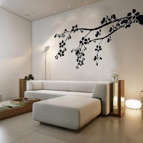 Sala con vinil decorativo