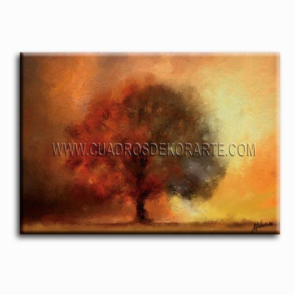 pinturas impresionistas otoño colores ocre, naranja y café