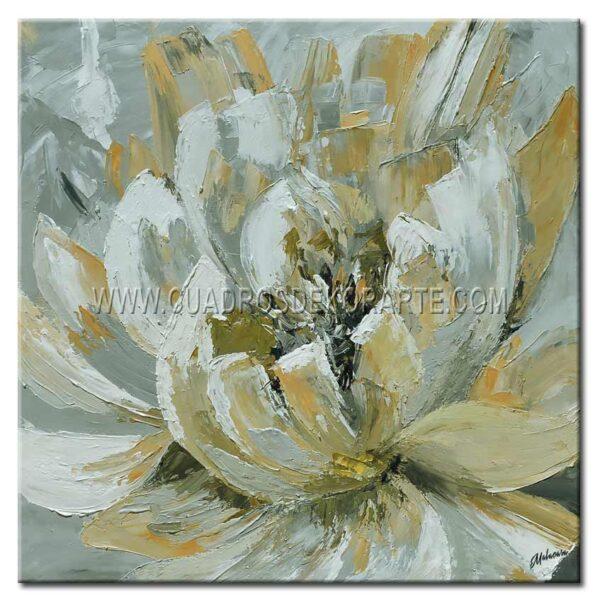 cuadro decorativo moderno flores de piedra