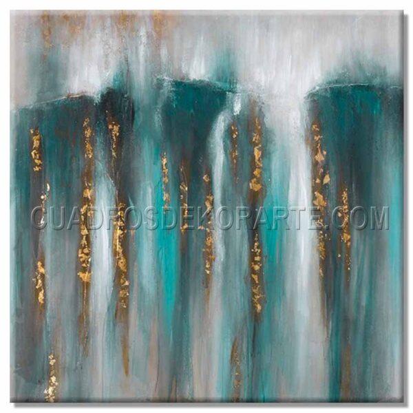 cuadros modernos sereno en colores azul y blanco