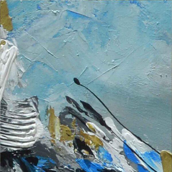 cuadro decorativo Plata ascendente acercamiento