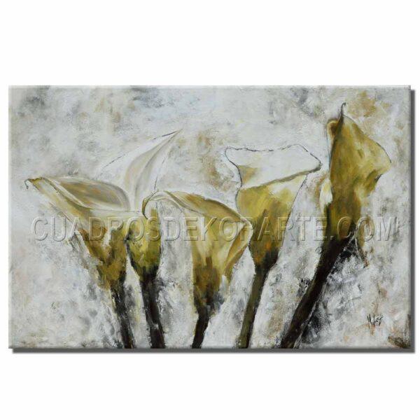 Pintura impresionista modelo alcatraces en medida de 120x80cm. pintada a mano