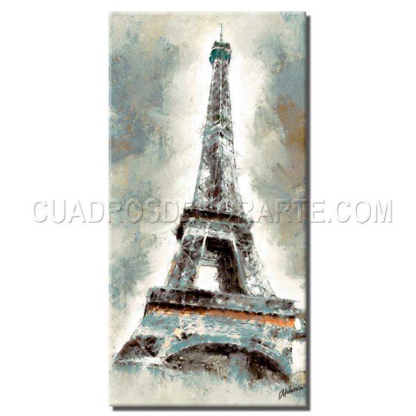 pinturas impresionistas Eiffel colores blanco y azul