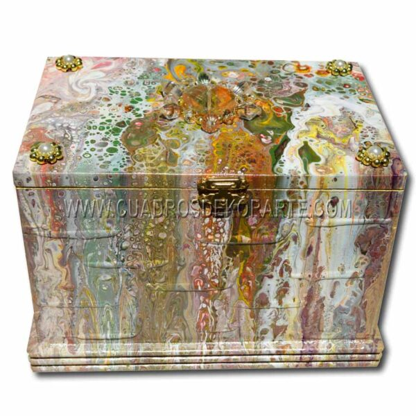Alhajero pintado a mano decorado con piedras de bisuteria marca dekorarte 1