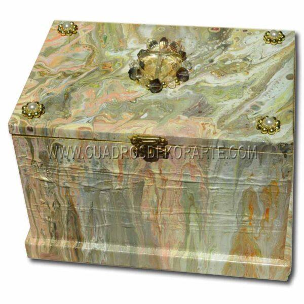 Alhajero pintado a mano decorado con piedras de bisuteria marca dekorarte 2