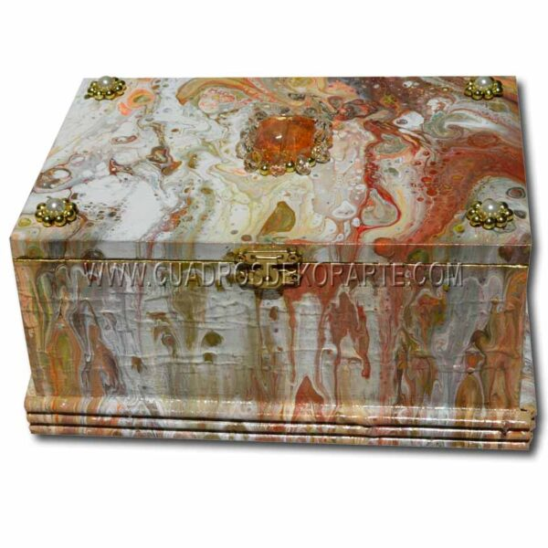 Alhajero pintado a mano decorado con piedras de bisuteria marca dekorarte 3