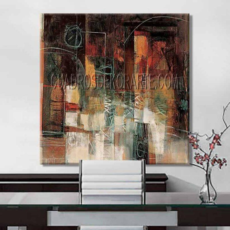 Pinturas abstractas para oficina Aurora