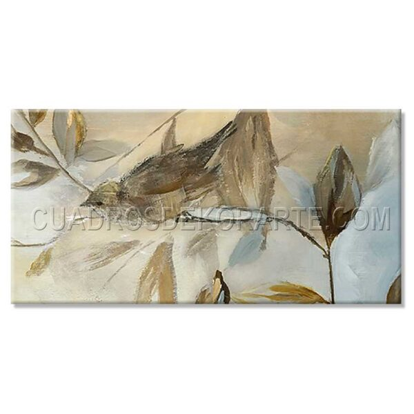 pinturas impresionistas jilguero colores ocre, blanco y gris