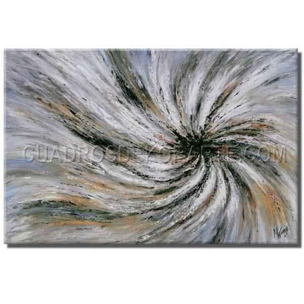 cuadros modernos Convergencia en colores blanco, gris y ocre