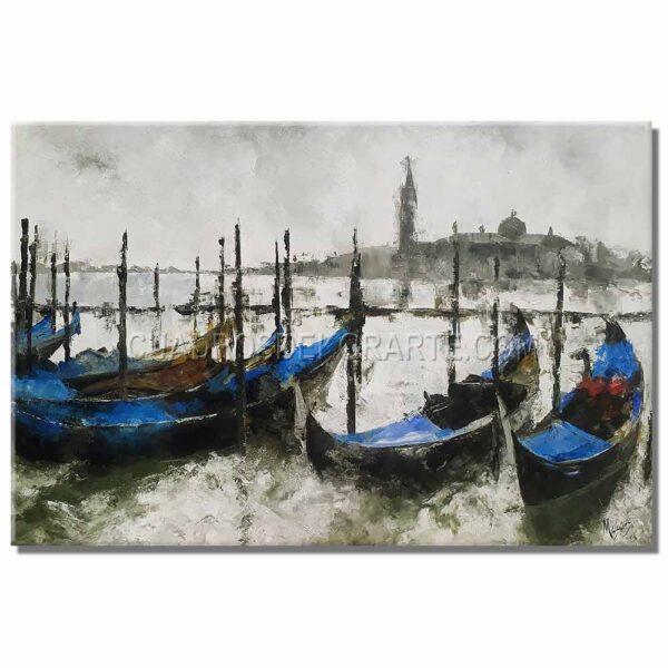 pinturas impresionistas Venecia colores blanco, gris y azul