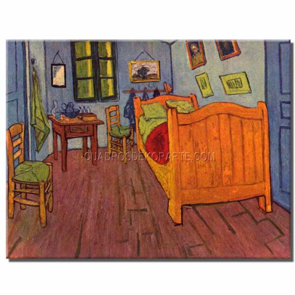 Cuadro El dormitorio en Arles Vincent Van Gogh copia pintada a mano