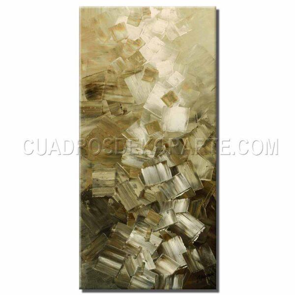 cuadros decorativos Upcubes colores blanco y ocre