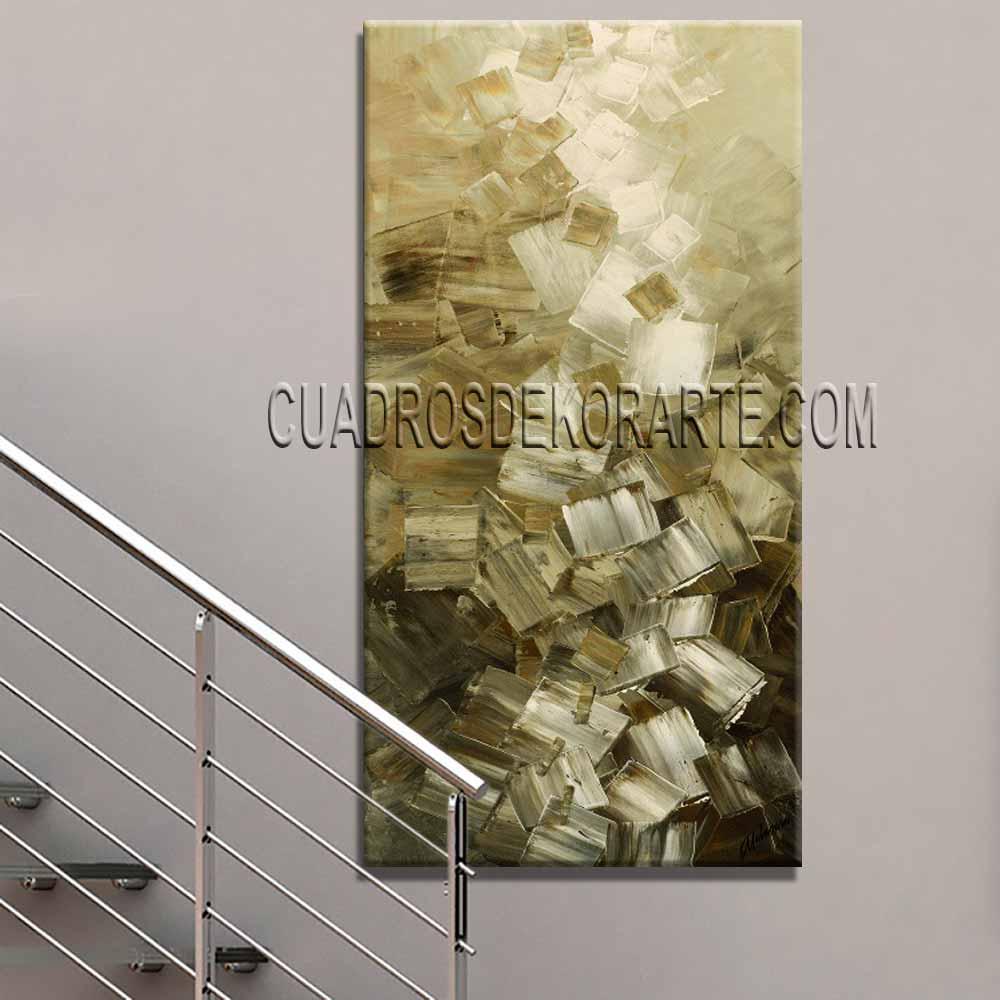 Cuadros para escaleras Upcubes colores blanco y ocre