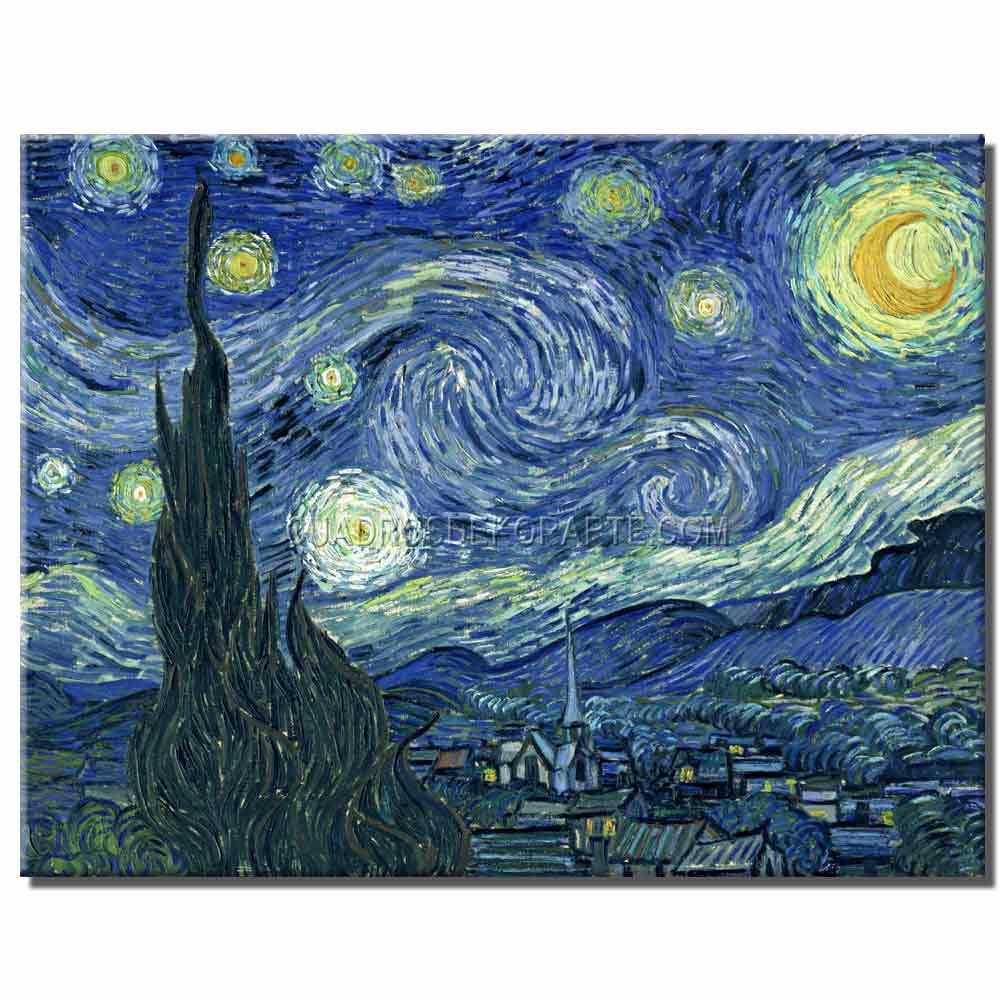 Réplicas de obras de pintores famosos elaboradas a mano y pintadas con pincel y espátula en tecnica mixta y acrílico.