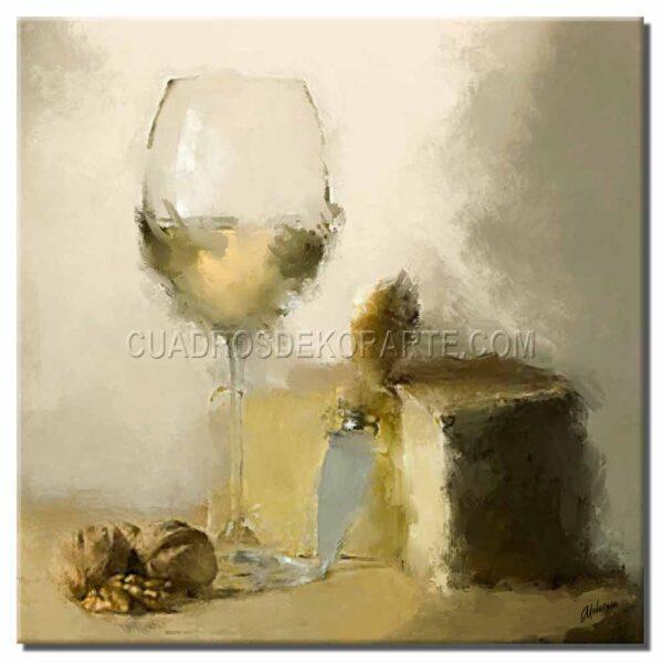 cuadros decorativos para comedor bodegón 1 estilo impresionista en colores gris y ocre