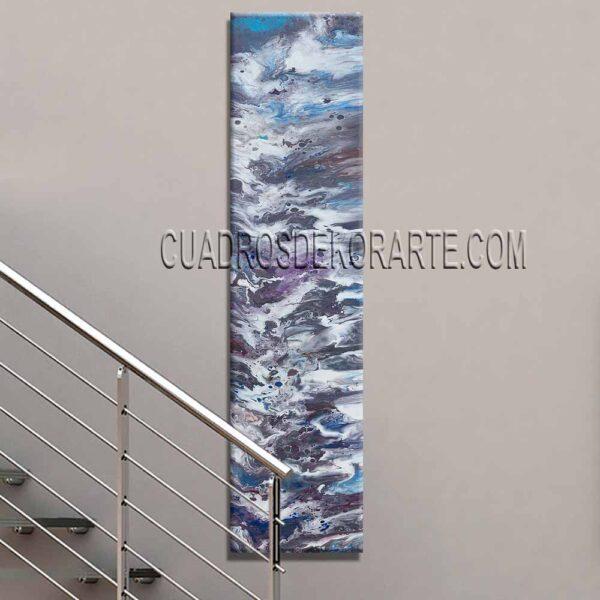 Cuadro para escaleras Júpiter en colores gris, blanco, malva y azul