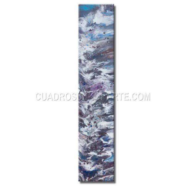 Cuadros decorativos abstractos Júpiter en colores blanco, gris, malva y azul