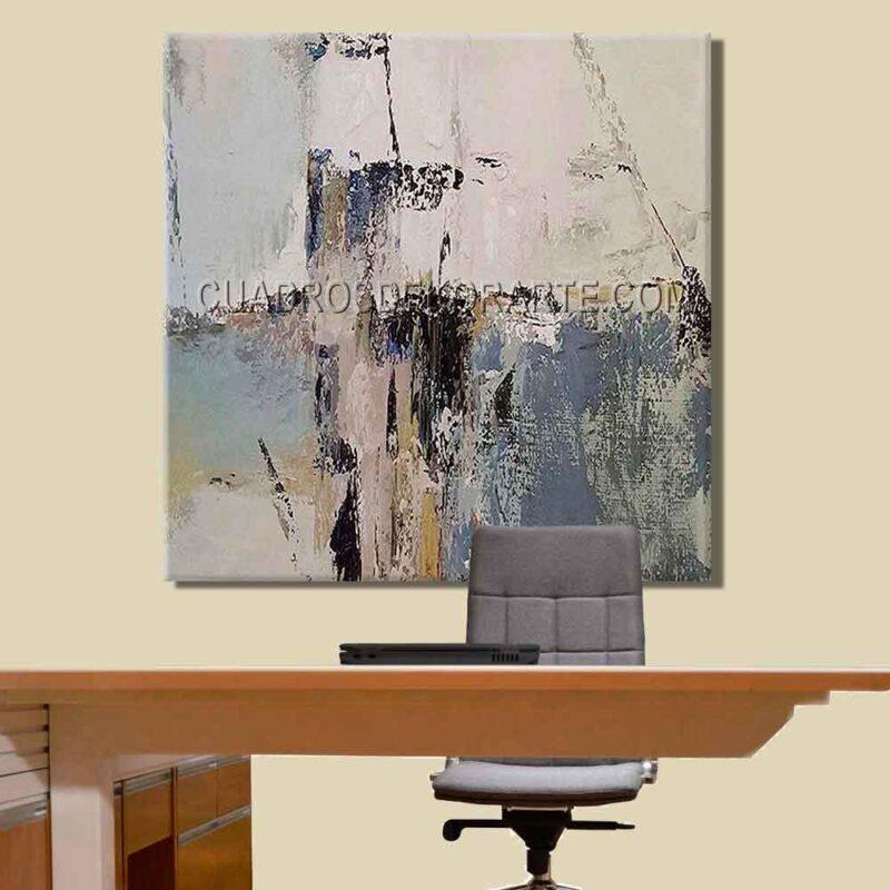 Pinturas abstractas para oficina Instant colores gris blanco