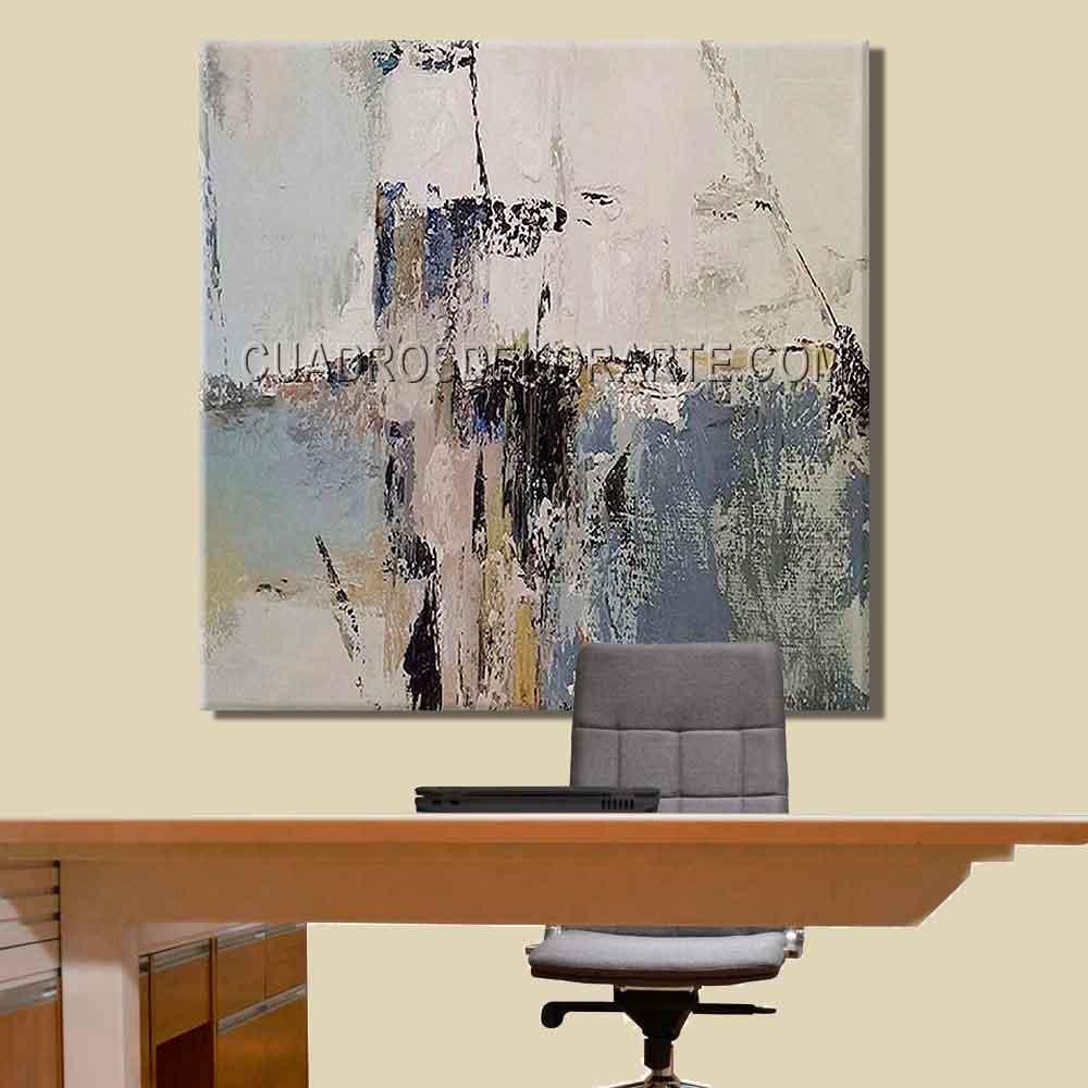Cuadros decorativos para oficina Instant colores gris blanco