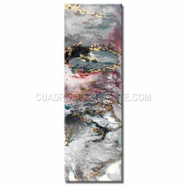 cuadros decorativos viento en colores gris, rojo y blanco