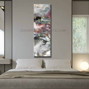 Cuadros para recámaras Viento moderno decoración gris, rojo y blanco