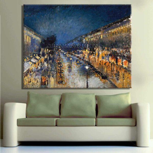 Copia de la pintura Boulevard Montmartre de noche cuadro decorativo