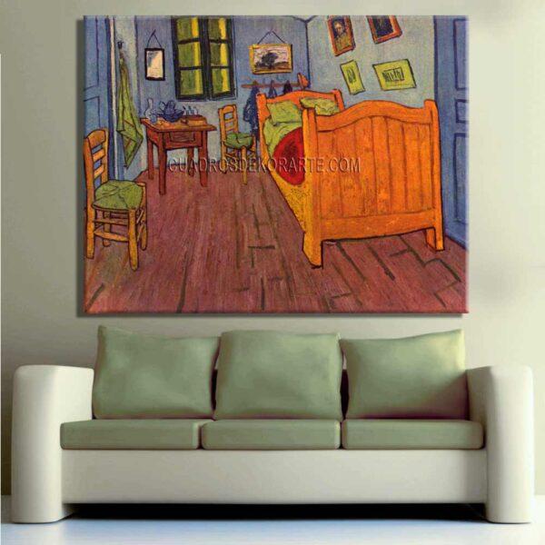 Copia de la pintura El dormitorio en Arles por la noche cuadro decorativo