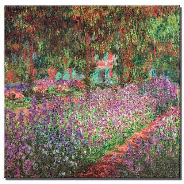 Cuadro El jardin del artista en Giverny Claude Monet copia pintada a mano
