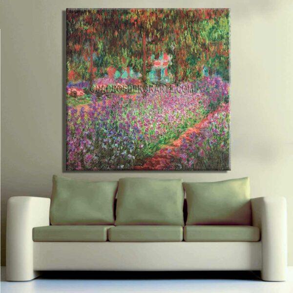 Copia de la pintura El jardin del artista en Giverny cuadro decorativo