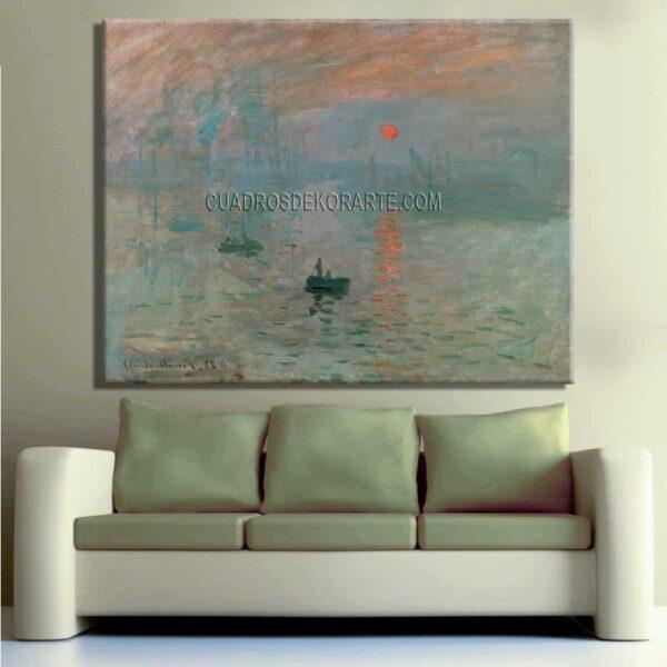 Copia de la pintura Impresión sol naciente cuadro decorativo
