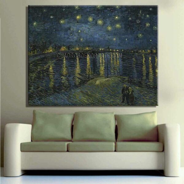 Copia de la pintura La noche estrellada sobre el Ródano cuadro decorativo
