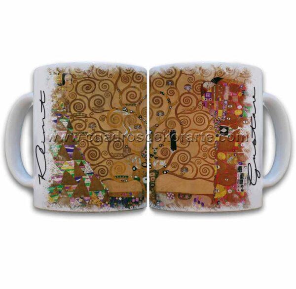 Tazas decoradas Gustav Klimt el árbol de la vida