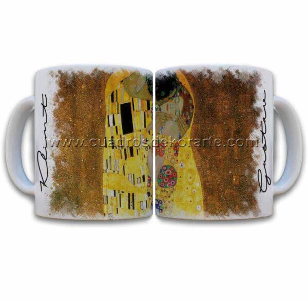 Tazas decoradas Gustav Klimt el beso