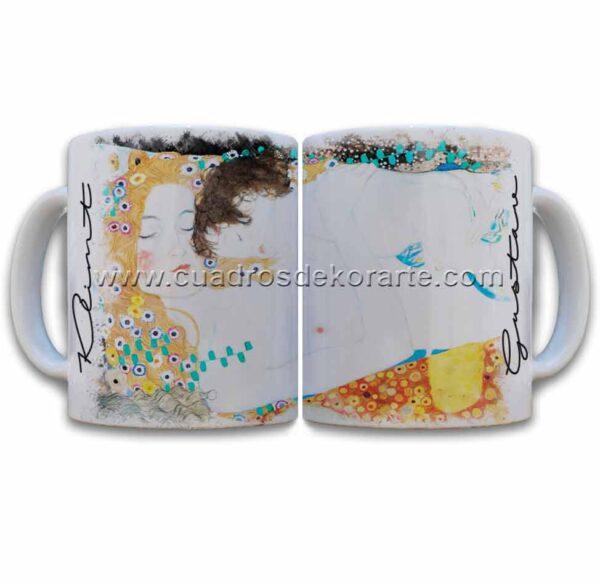 Tazas decoradas Gustav Klimt madre e hija