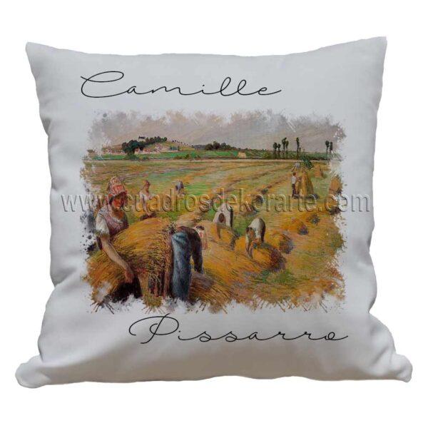 cojines decorativos Camille Pissarro la cosecha impresos en sublimación