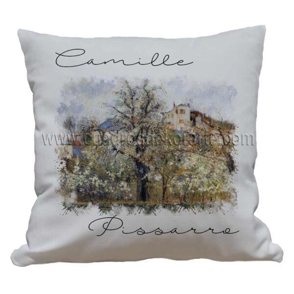 cojines decorativos Camille Pissarro primavera ciruelos en flor pontoise impresos en sublimación