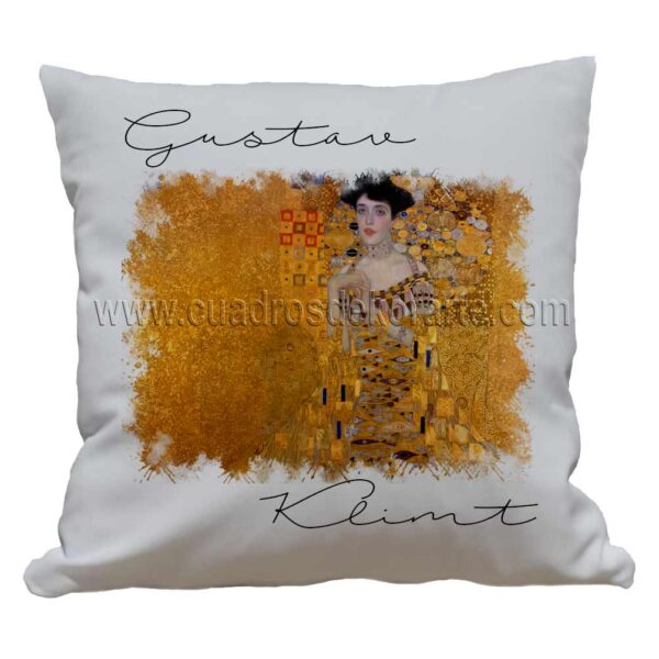 cojines decorativos Gustav Klimt la dama de oro impresos en sublimación