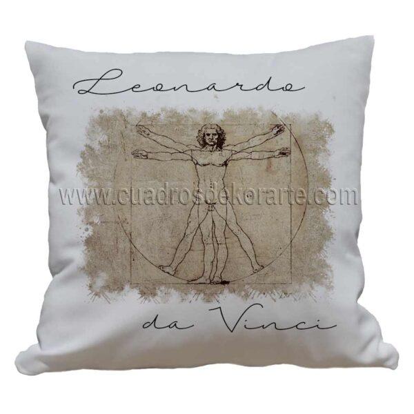 cojines decorativos Leonardo da Vinci el hombre del vitruvio impresos en sublimación