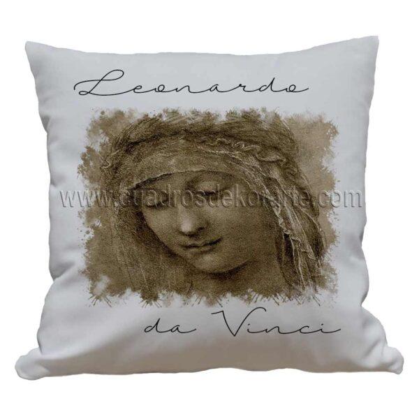 cojines decorativos Leonardo da Vinci rostro de mujer 2 impresos en sublimación