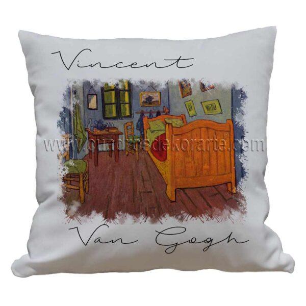 cojines decorativos Vincent van Gogh el dormitorio en Arles impresos en sublimación