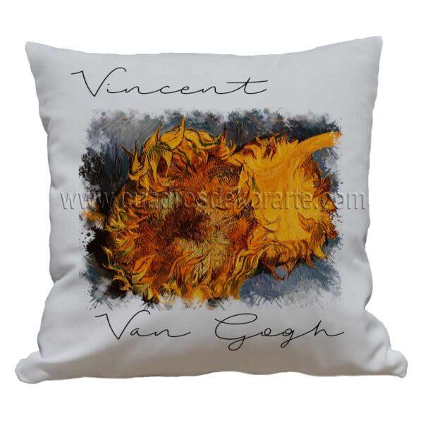 cojines decorativos Vincent van Gogh girasoles cortados impresos en sublimación