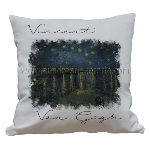 cojines decorativos Vincent van Gogh la noche estrellada sobre el Ródano impresos en sublimación