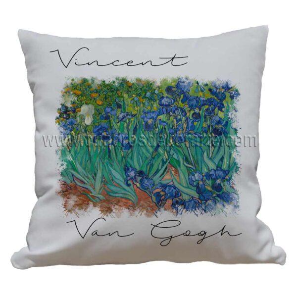 cojines decorativos Vincent van Gogh los lirios impresos en sublimación