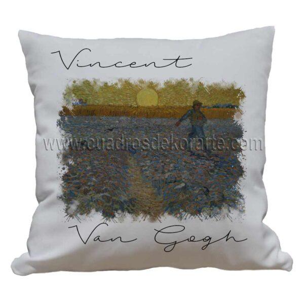 cojines decorativos Vincent van Gogh sembrador a la puesta del sol impresos en sublimación