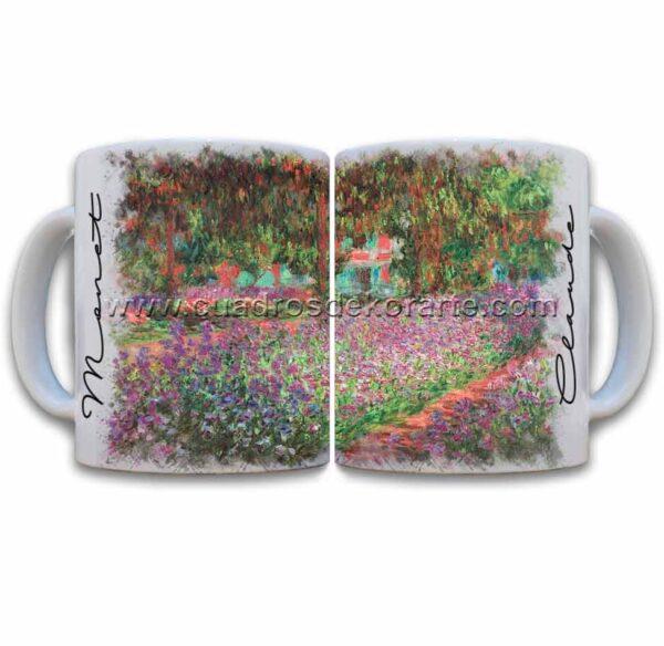 Tazas decoradas Claude Monet el jardín del artista en giverny